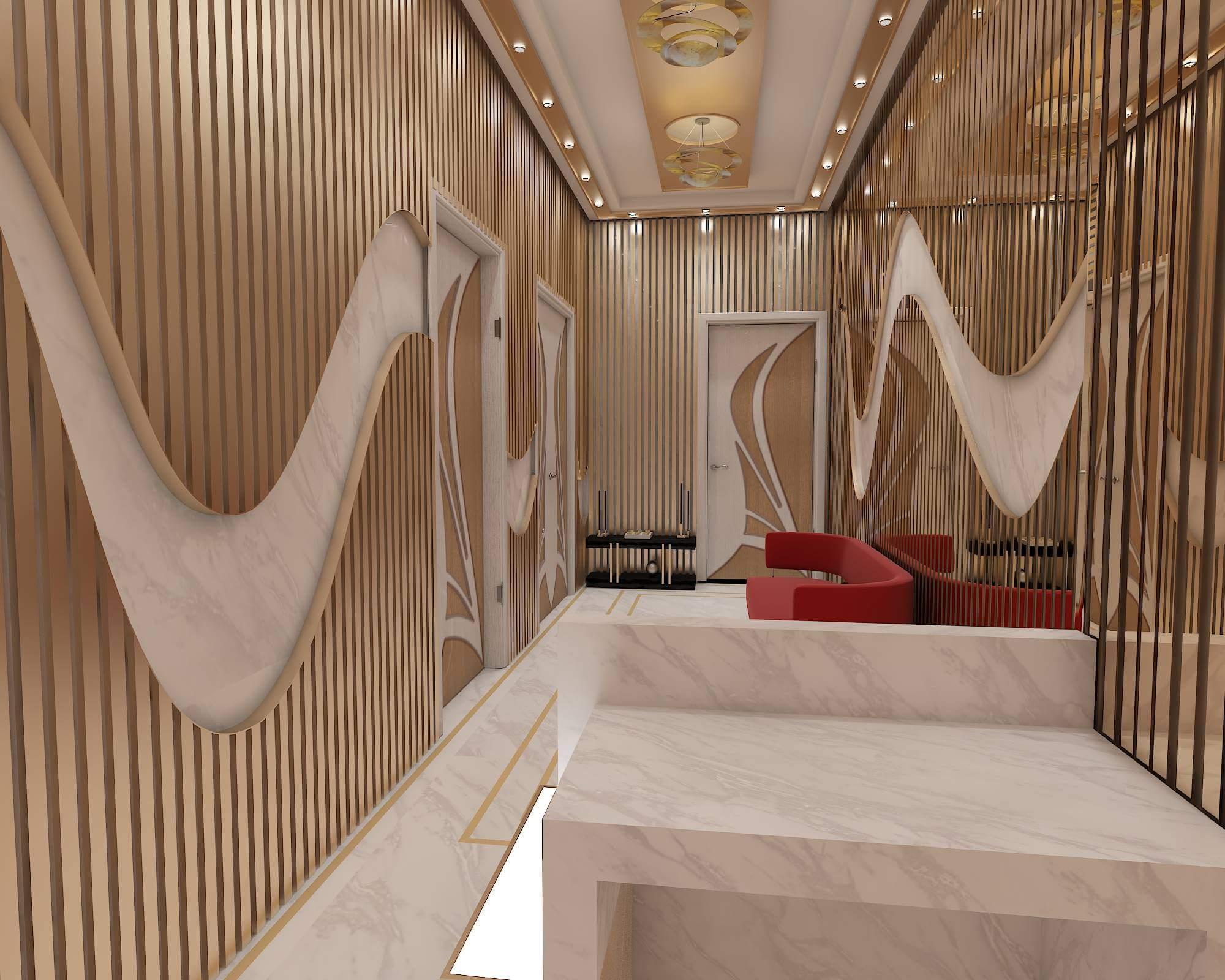 Reception beauty parlor design